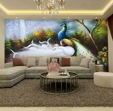 3D Colorful Peacock 1 Wall Paper Wall Print Decal Wall Deco Indoor wall Murals