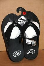 Reef Fanning Black Silver Men Sandals Sizes 8-13 RF-002415 Bottle Opener New NWT