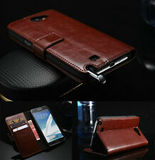 Luxury PU Leather Flip Wallet Case Cover For Samsung Galaxy Note2 N7100