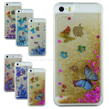 Lovely Crystal Plastic Dynamic Quicksand Bling Hard Case Cover For iPhone 5 5S