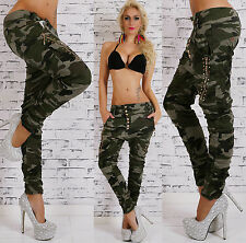 SeXy Damen JEANS HOSE Camouflage Army Harem Baggy 34 36 38 40 42 XS S M L XL