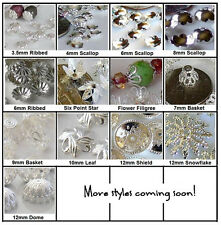 Silver Plated Metal Brass Bead Caps Choose 3.5mm to 12mm