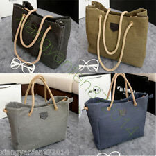 New Womens Ladies Designer Style canvas Tote Bag Shoulder Handbag Shopper large