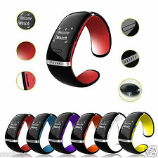 LED Touch Screen Bracelet Wrist Smart Watch Phone Pedometer Anti-Lost Dialer SMS