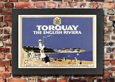 TX52 Vintage 1920 GWR Torquay English Riviera Railway Framed Travel Poster A3/A4