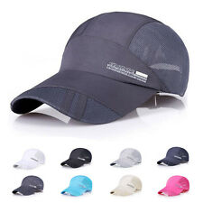 Men Women Dry Adjustable Golf Sport Summer Baseball Cap Sun Hat Mesh Snapback
