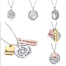 New 2015 Family Members Proverbs Love Letter Necklace Simple Pendant Lover Gift
