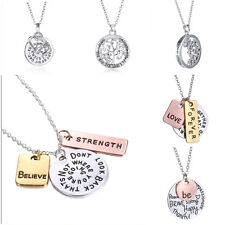 New 2017 Family Members Proverbs Love Letter Necklace Simple Pendant Lover Gift