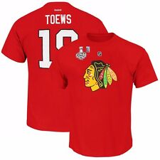Jonathan Toews 2015 Chicago Blackhawks Jersey T Shirt w/ Stanley Cup Patch Men's