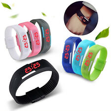 Men Womens Marvellous Silicone Red LED Sport Bracelet Touch Digital Wrist Watch