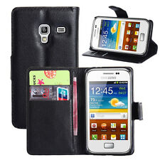 Luxury Leather Wallet Case Stand Card Holder For Samsung Galaxy Ace Plus S7500