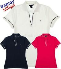 NEW WOMENS TOMMY HILFIGER EMMA CLASSIC POLO V-NECK SHIRT! VARIETY COLORS & SIZES
