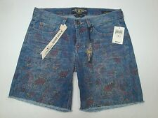 NWT $69 LUCKY BRAND ABBEY FLORAL DENIM SHORTS Blue Jeans Womens 27 28 29 NEW