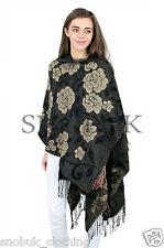 New Ladies Poncho Jumper Women Knitted Cape Sweater Winter Top Pullover Shawl UK