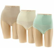 NEW Carol Wior 1PR Microfiber Panty w/ Wide Control Belly Band A256596 Shapewear