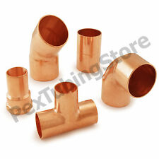 Copper Sweat Plumbing Fittings: Elbows, Tees, Couplings, Adapters, NSF LEAD-FREE