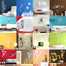 Removable Modern3D Crystal Wall Stickers Decal Decor Home Dekoration Wandbilder