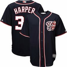 2015 Bryce Harper Washington Nationals Alternate Navy Cool Base Jersey Men's