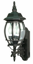 Nuvo Lighting Central Park Wall Lantern in Textured Black