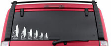 SUP Stand Up Surfing Stick Figure Family Decal Vinyl Car Window Stickers