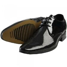 MENS VOEUT PATENT LEATHER FORMAL DRESSY FASHION SHOES STYLE RENZO - BLACK