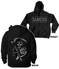 SONS OF ANARCHY SAMCRO ZIP UP HOODIE NEW !