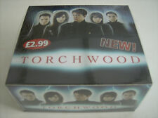 SEALED BOX OF 32 PACKETS-9 CARDS PER PACK-TORCHWOOD TRADING CARDS.