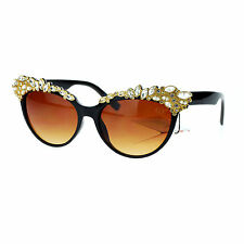 Fancy Jewel Rhinestone Top Sunglasses Womens Cateye Designer Eyewear
