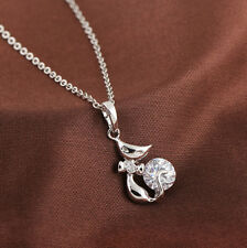 18K GP White Gold Plated Swarovski Crystal Element Necklace
