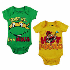 Newborn baby boys bodysuit one-piece romper toddlers clothes bodysuit 0-12M cool