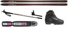 NEW WHITEWOODS TITAN metal BC BACK cross country XC SKIS/BINDINGS/BOOTS - 160cm