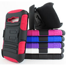 For Samsung Galaxy Ring Prevail II 2 M840 Rugged Hybrid Case Belt Clip Holster
