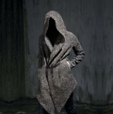 Fashion Mens Korean Personality Hooded Long Casual Wool Warm Trench Coats New T