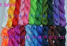 15M 1.5mm Chinese Nylon Knot Cord Thread For Bracelet Braided with 33 colors