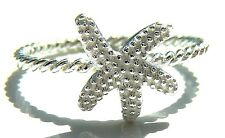 925 Sterling Silver Starfish Ring, Size L - R