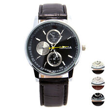 Luxury Mens Watch Crocodile Sports Watch Faux Leather Strap Analog Wrist Watches