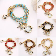 Retro Women Rhinestone Wristwatch Crystal Butterfly Quartz Bracelet dress Watch