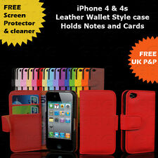 LEATHER NEW GRIP SERIES IPHONE 4 4S CASE COVER SHOCK PROOF free screen protector