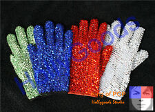 Hand-made !! MICHAEL JACKSON MJ Billie Jean collection double side crystal Glove