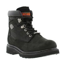New Harley Davidson Boots Badlands Mens Black Leather Shoes Size UK 9 SALE