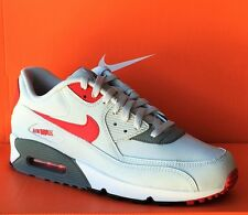 NIKE AIR MAX 90 ESSENTIAL-Mens Casual New Shoes-Gray/Red/Black-537384 026