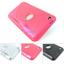 For iPod iTouch 4 4th 4G S-Line Ultra-Thin Glossy TPU Gel Case Skin Cover