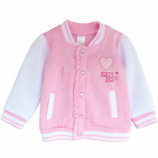 Newborn Baby Girls Pink White Warm Cotton Coat Jackets Cute Party Outwear 0-12M