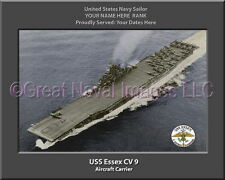 USS Essex CV 9 Personalized Canvas Ship Photo Print Navy Veteran Gift
