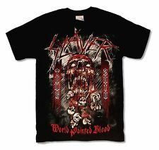 SLAYER WORLD PAINTED BLOOD TOUR 2010 BLACK T-SHIRT NEW OFFICIAL MERCH
