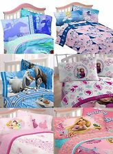 Princess Bedding Set Cinderella Frozen Comforter Sheets Kids Girls Bed In A Bag