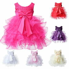 Toddler Baby Princess Tulle Dress Little Girls Party Wedding Bowknot Gown 0-24M