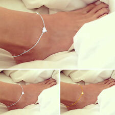 Fashion Women Anklet Gold Silver Charms Ankle Chain Bracelet Foot Sandal Jewelry