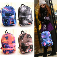 Unisex Galaxy Pattern Backpack Travel Rucksack Canvas Leisure Bag School Bookbag
