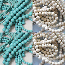 Wholesale 20-100Pcs Round Loose Turquoise Charm Spacer Beads Jewelry 4 6 8 10mm